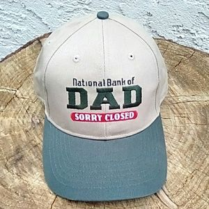 NWOT National Bank of DAD golf/ball cap